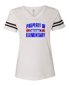 PROPERTY OF WHITE VINTAGE FOOTBALL