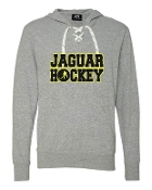 JH LACE UP GREY TEE W/HOOD