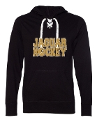 JH LACE UP BLACK TEE W/HOOD