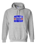 PROPERTY OF GREY HOODIE SWEATSHIRT
