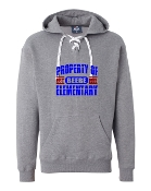 PROPERTY OF GREY J. AMERICA UNISEX LACE UP SWEATSHIRT