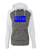 2 LINE WHITE LADIES COSMIC SWEATSHIRT W/THUMBHOLES