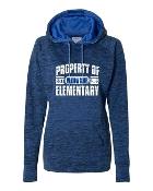 PROPERTY OF ROYAL LADIES COSMIC SWEATSHIRT W/THUMBHOLES