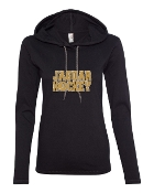 JH LONG SLEEVE BLACK TEE W/HOOD
