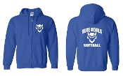 CURVED ROYAL REGULAR FULL ZIP HOODIE SWEATSHIRT