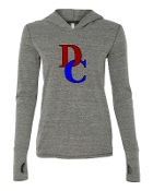DC GREY TRIBLEND LONG SLEEVE HOOD W/THUMBHOLES