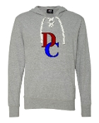 DC GREY LACE UP TEE W/HOOD