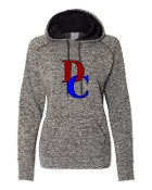 DC GREY LADIES COSMIC SWEATSHIRT W/THUMBHOLES