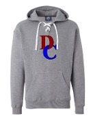 DC GREY UNISEX LACE UP SWEATSHIRT