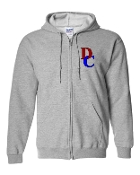 DC LEFT CHEST GREY REGULAR FULL ZIP HOODIE SWEATSHIRT
