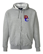 DC LEFT CHEST GREY PREMIUM FULL-ZIP SWEATSHIRT