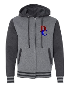 DC LEFT CHEST GREY VARSITY SWEATSHIRT