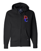 DC LEFT CHEST BLACK PREMIUM FULL-ZIP SWEATSHIRT
