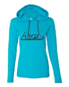 TEAL LONG SLEEVE TEE W/HOOD