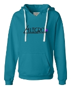 TEAL V-NECK SWEATSHIRT