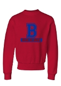 B RED CREW SWEATSHIRT