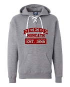 EST. GREY UNISEX LACE UP SWEATSHIRT