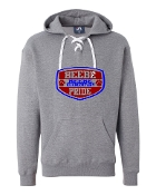 SHIELD GREY UNISEX LACE UP SWEATSHIRT