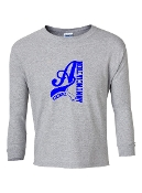 BIG A GREY LONG SLEEVE TEE