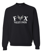 BLACK CREW SWEATSHIRT W/WHITE PRINT