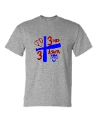 3 UP 3 DOWN BAT GREY UNISEX CREW