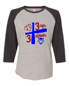 3 UP 3 DOWN BAT GREY BASEBALL