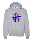 3 UP 3 DOWN BAT GREY HOODIE SWEATSHIRT
