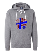 3 UP 3 DOWN BAT GREY UNISEX LACE UP SWEATSHIRT