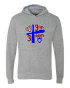3 UP 3 DOWN BAT GREY CLOUD FLEECE SWEATSHIRT