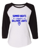 SUMMER NIGHTS WHITE BASEBALL