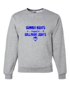 SUMMER NIGHTS GREY CREW SWEATSHIRT