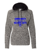 SUMMER NIGHTS GREY LADIES COSMIC SWEATSHIRT W/THUMBHOLES
