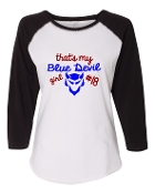 BLUE DEVIL GIRL WHITE BASEBALL