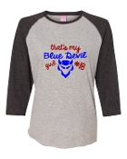 BLUE DEVIL GIRL GREY BASEBALL