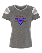BLUE DEVIL GIRL GREY AUGUSTA FANATIC SHORT SLEEVE