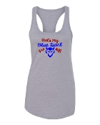 BLUE DEVIL GIRL GREY RACERBACK TANK TOP