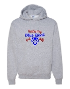 BLUE DEVIL GIRL GREY HOODIE SWEATSHIRT