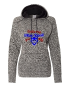 BLUE DEVIL GIRL GREY LADIES COSMIC SWEATSHIRT W/THUMBHOLES