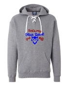 BLUE DEVIL GIRL GREY UNISEX LACE UP SWEATSHIRT