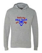 BLUE DEVIL GIRL GREY CLOUD FLEECE SWEATSHIRT