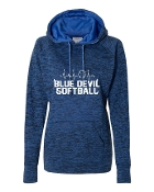 HEART BEAT ROYAL LADIES COSMIC SWEATSHIRT W/THUMBHOLES