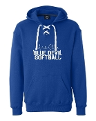 HEART BEAT ROYAL UNISEX LACE UP SWEATSHIRT