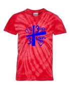 3 UP 3 DOWN BAT RED TIE-DYE