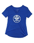 SOFTBALL ROYAL CAGED FRONT TEE