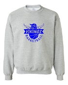GREY HORN CREW SWEATSHIRT