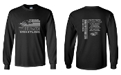 UW BLACK LONG SLEEVE UNISEX CREW