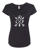 """LOVE"" BLACK Triblend v-neck"