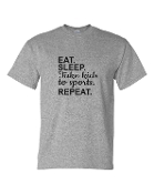 EAT SLEEP GREY UNISEX CREW