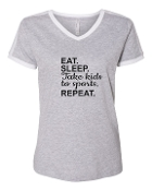 EAT SLEEP GREY SOCCER SHIRT