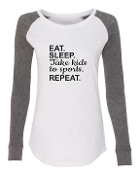 EAT SLEEP WHITE PREPPY PATCH